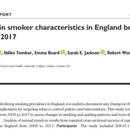 January 2020 interview with Claire Garnett - Engish smoker characteristics