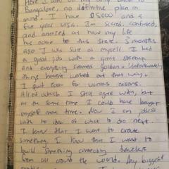 Letter I Wrote ( Jonesy)