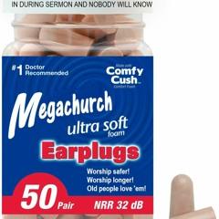 Megachurch Brand Earplugs Ad