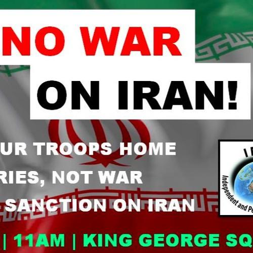 Say No to War on Iran