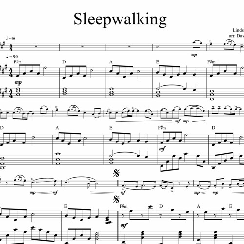 Sleepwalking Piano Accompaniment Sample