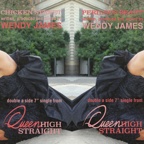 WENDY JAMES. 1ST DOUBLE A-SIDE SINGLE. PERILOUS BEAUTY / CHICKEN STREET