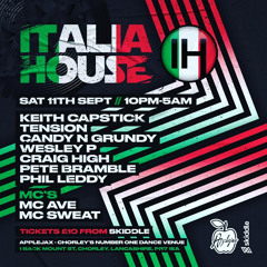 ITALIA HOUSE APPLEJAX 11/9 FEAT WEZ P MC SWEAT AND THE AV-E MC
