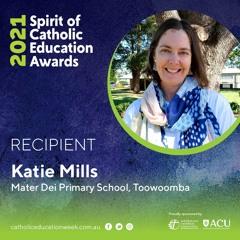 Katie Mills 2021 Recipient Spirit Of Catholic Education Awards