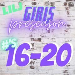 16-20 Pre-season HS Girls