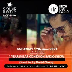 SOLAR CONEXION IBIZA LIVE RADIO SHOW 1 YEAR With DAVID CHONG 19.06.21