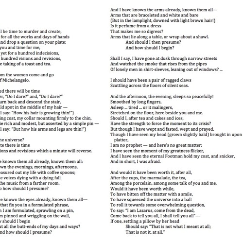224 The Love Song of J Alfred Prufrock by T S Eliot