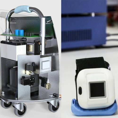 Diseñan dispositivo para pacientes en rehabilitación y un armazón para trasladar equipos médicos