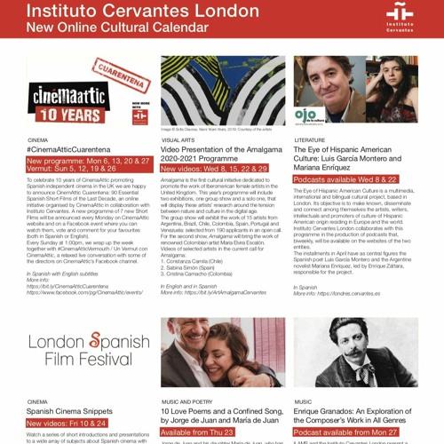 Online Cultural Programme 2020 - Instituto Cervantes London