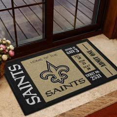 NFL New Orleans Saints Team Ticket Runner Doormat
