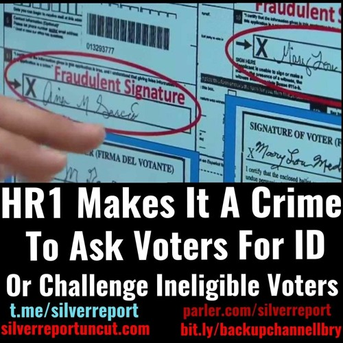 HR1 Would Nationalize Changes Made During 2020 Election, Makes It A Crime To Ask For ID