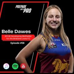 #58 - Belle Dawes AFLW Inside Midfielder for the Brisbane Lions
