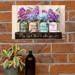 Violet flower pot hummingbird My god that is who you are poster