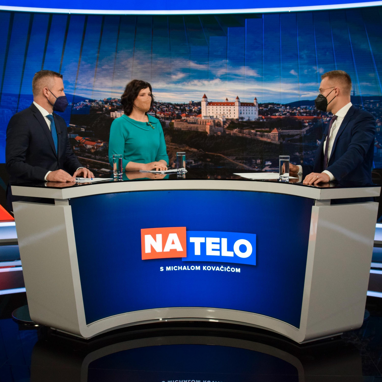 Peter Pellegrini (Hlas-SD) a Veronika Remišová (Za ľudí)