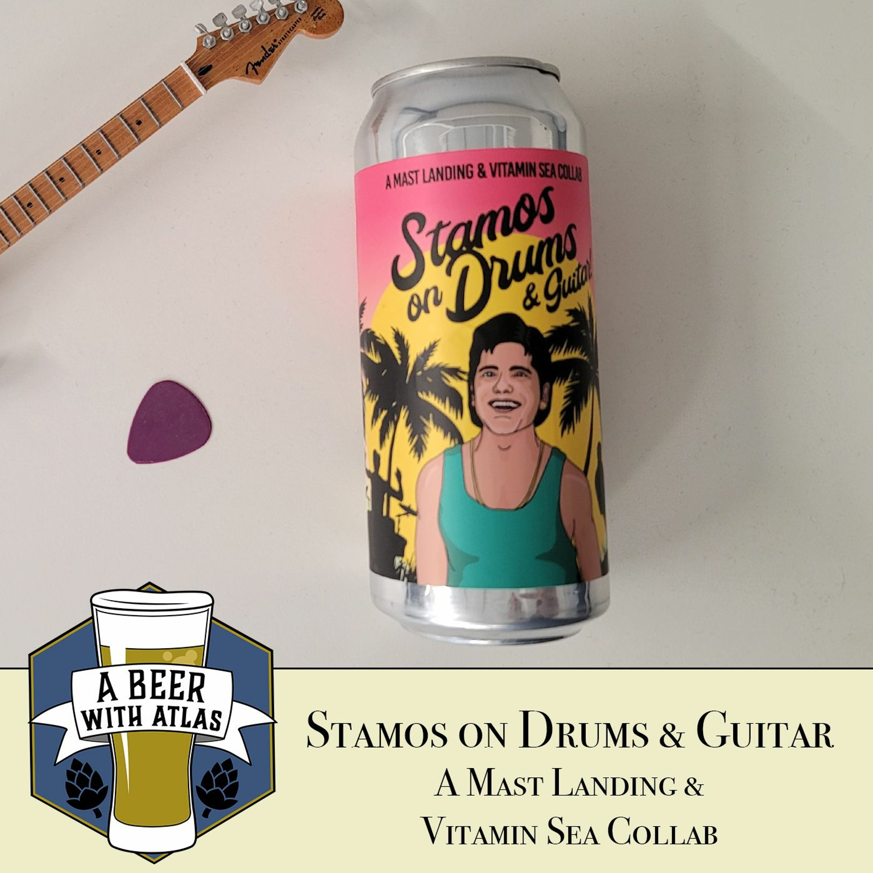 Stamos on Drums and Guitar   DDH DIPA Collab - A Beer with Atlas 154