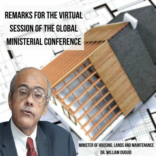 HOUSING MINISTER ADDRESSES VIRTUAL GLOBAL CONFERENCE