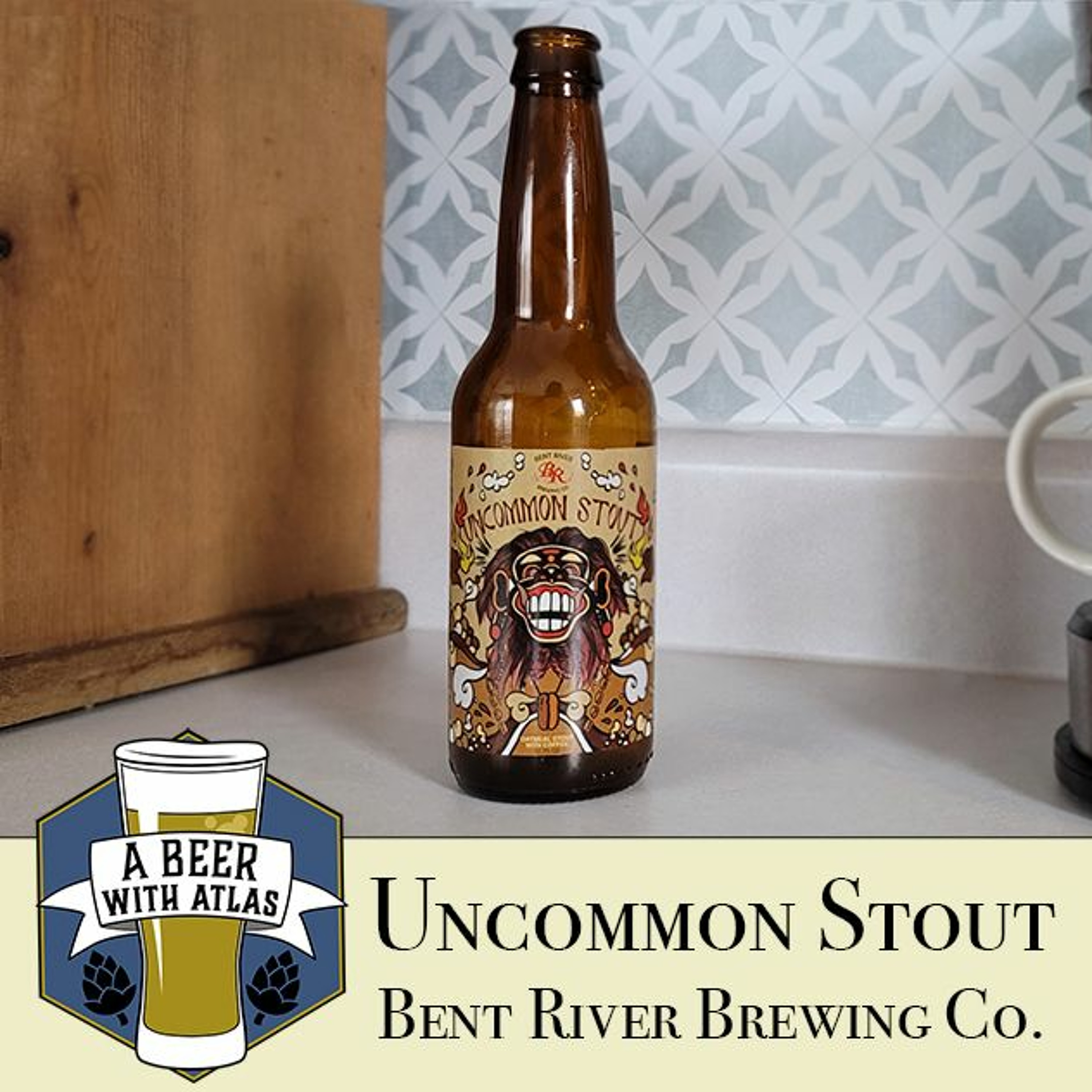 Uncommon Stout, Bent River Brewing Company - A Beer with Atlas 137 - travel nurse beer podcast