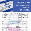 Hatikvah sheet music.  National anthem of Israel.