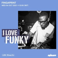 I Love: Funky - Fingaprint (Exclusive Mix) - September 2021