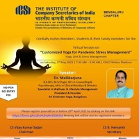 Active Event - Customized Yoga For Pandemic Stress Management  With Dr.Mallikarjuna,Mn Apoorva