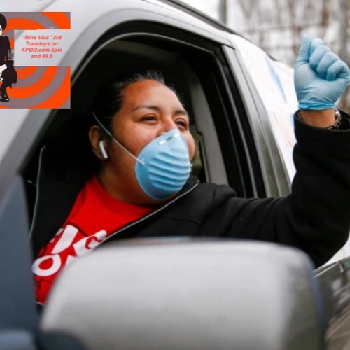 Nina Viva features convo on Essential Workers Striking For Life.