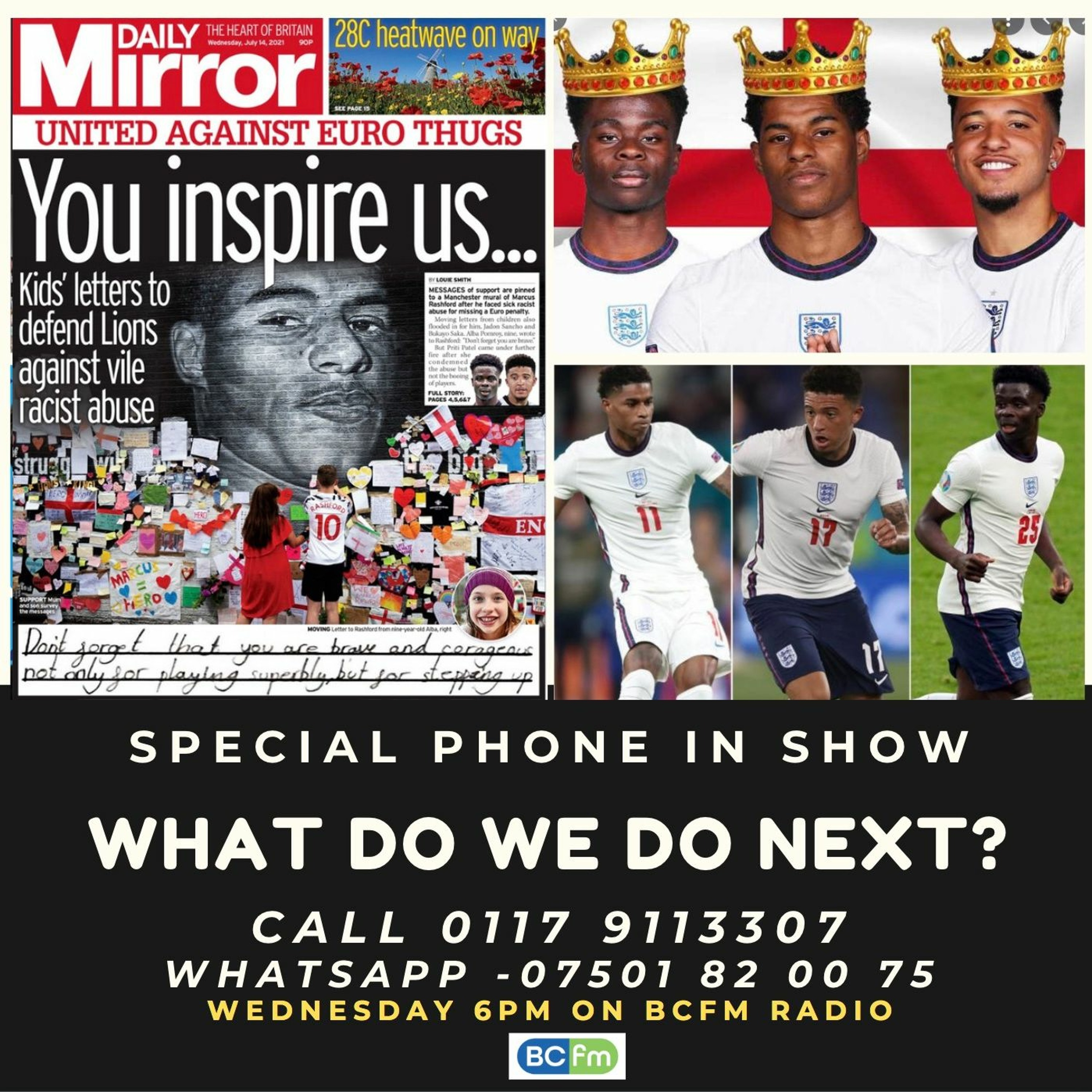 Euro 2020 Racism Phone In 14th July 2021