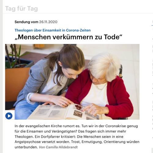 DeutschlandFunk - Menschen verkümmern zu Tode - November 2020