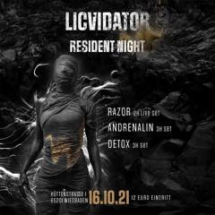 Detox @ LICVIDATOR RESIDENT NIGHT 16.10.21