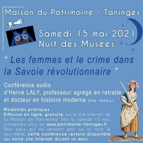 Les femmes et le crime dans la Savoie révolutionnaire - Hervé LALY - Nuit des Musées 2021