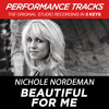 Beautiful For Me (Medium Key Performance Track With Background Vocals)