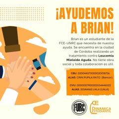 Estudiantes de la UNRC lanzan una campaña solidaria para ayudar a Brian
