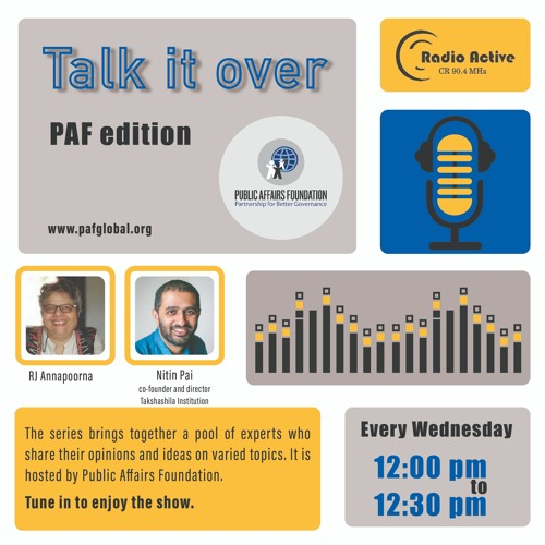 Talk It Over Ep 7 With Nitin Pai By RJ Annapoorna
