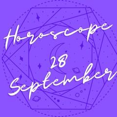 Horoscope for September 28th