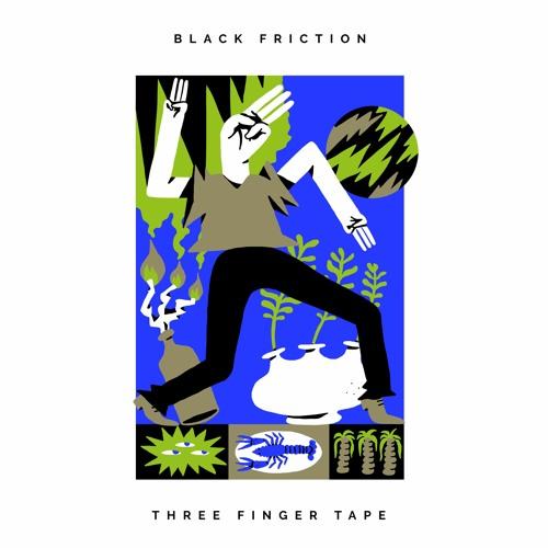 BLACK FRICTION - THREE FINGER TAPE