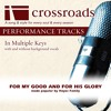 For My Good And For His Glory (Performance Track with Background Vocals in C#)