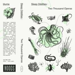 29.04.21 | Sleep Oddities : Two Thousand Operas [NOODS]
