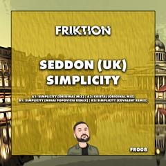 Premiere : Seddon - Simplicity [MIHAI POPOVICIU REMIX] [FR008]