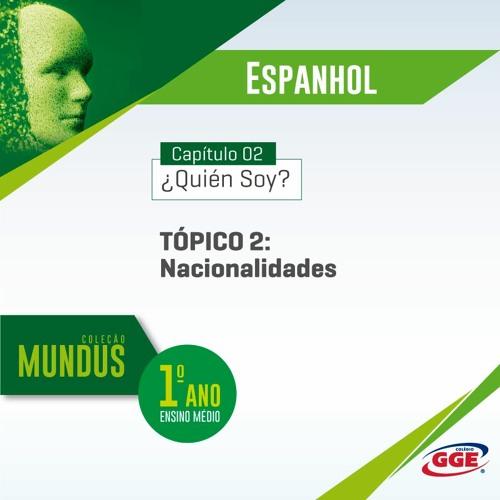 PAP GGE | Mundus do 1º ano – Nacionalidades (Espanhol - Cap. 2 - Tópico 2)