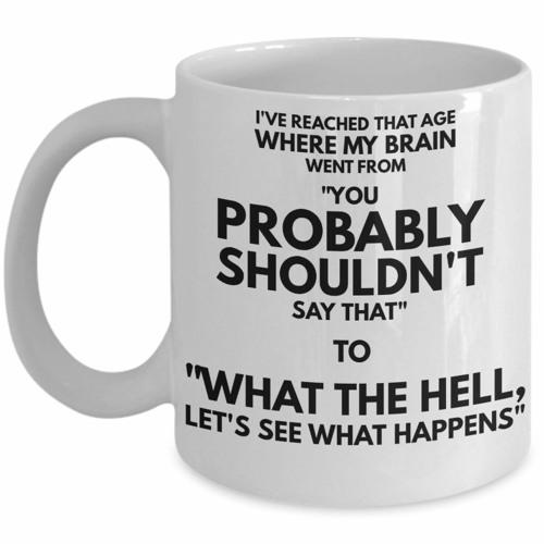 Let's See What Happens Mug