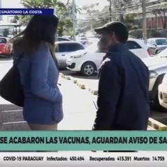 El puesto vacunatorio del Sanatorio La Costa quedó sin stock de vacunas
