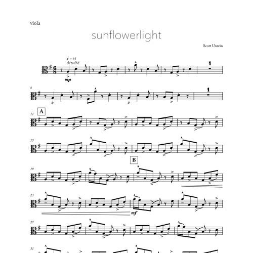 sunflowerlight (2019) for viola