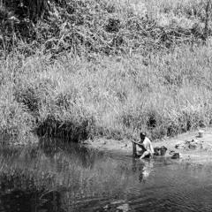 Gabon - River Mounianze On The Equator - Children Playing