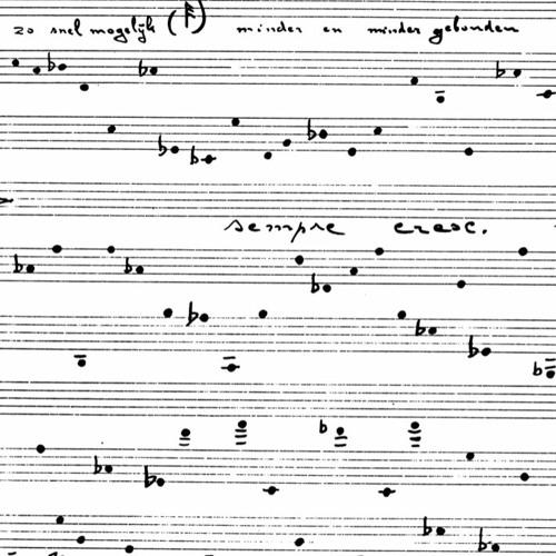 Karel Goeyvaerts - Stuk voor piano en tape (1964)