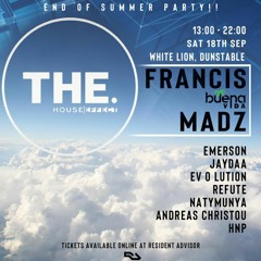 Live Set: Francis B2B Madz (The House Effect, Dunstable 18/09/21)