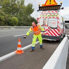 La sécurité des agents d'autoroute sur les chantiers