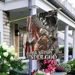 Veteran One nation under god eagle American flag