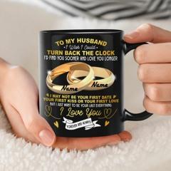Personalized name Rings To my husband i wish i could mug