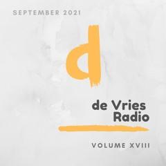 de Vries Radio Volume XVIII - September 2021 (Melodic, Progressive & Deep House)