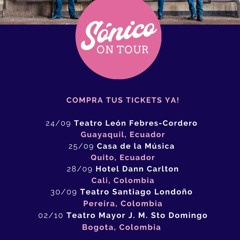 Sonico On Tour Cali Colombia