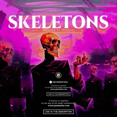 ''SKELETONS'' - Oxlade x Wizkid x Afrobeat Type Beat   Burna Boy